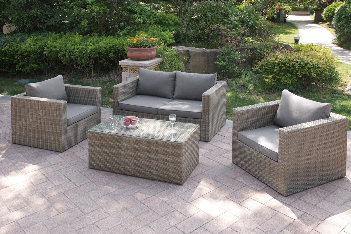 403405 4Pcs Outdoor Set 2Colors Silver State Furniture
