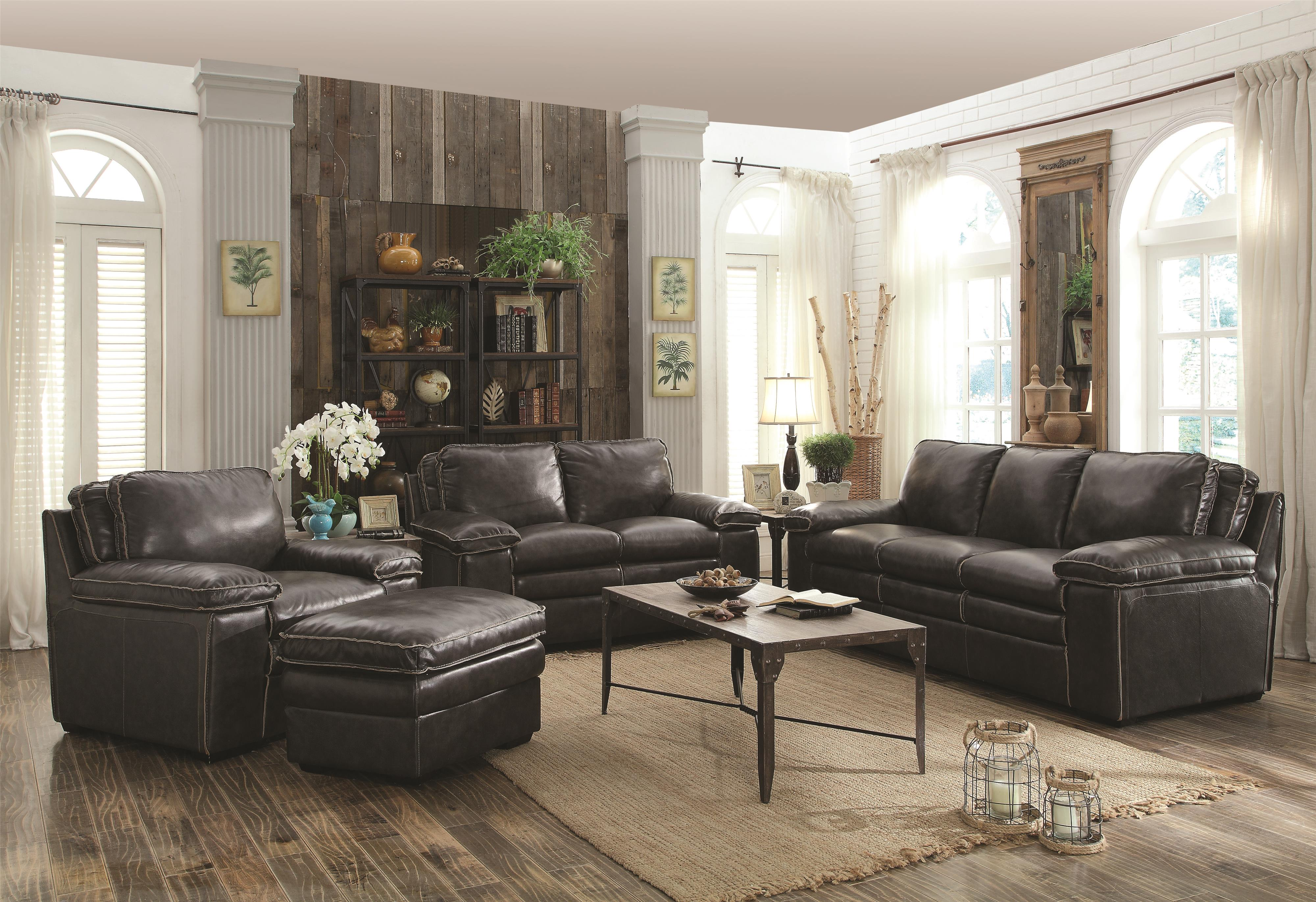 Living Room Sets Dallas Tx regalvale leather living room 505841 - silver state furniture