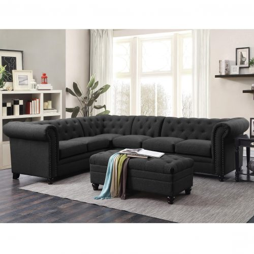 Roy Leather Sectional 500268, 500222, 500292 (3 Colors)
