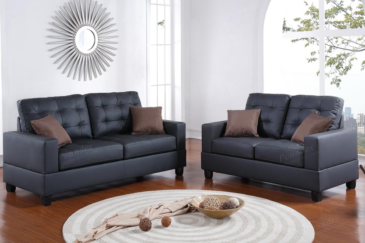 2 Pcs Sofa Set F7858 4 Colors Silver State Furniture