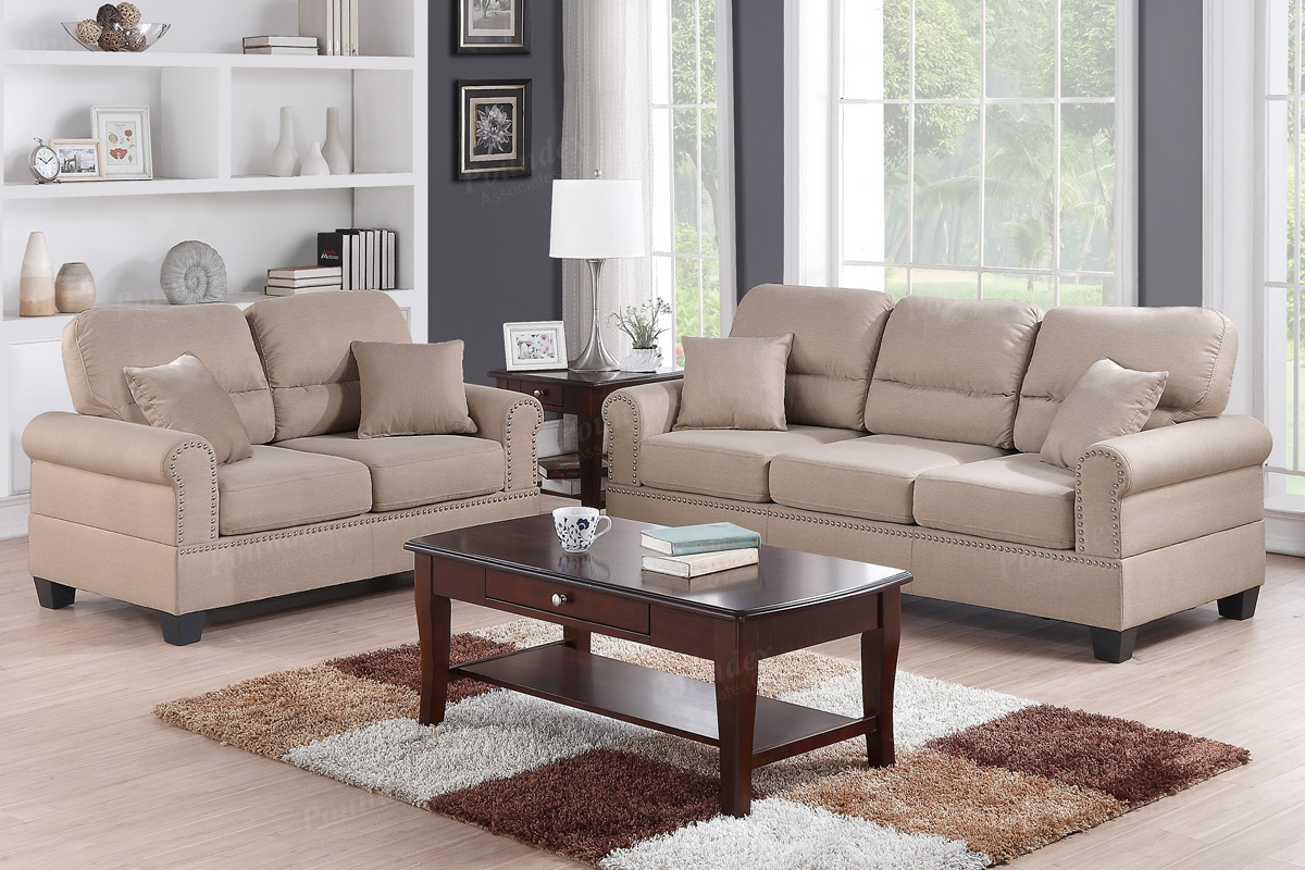 2 Pcs Sofa Set F7879 3 Colors Silver State Furniture