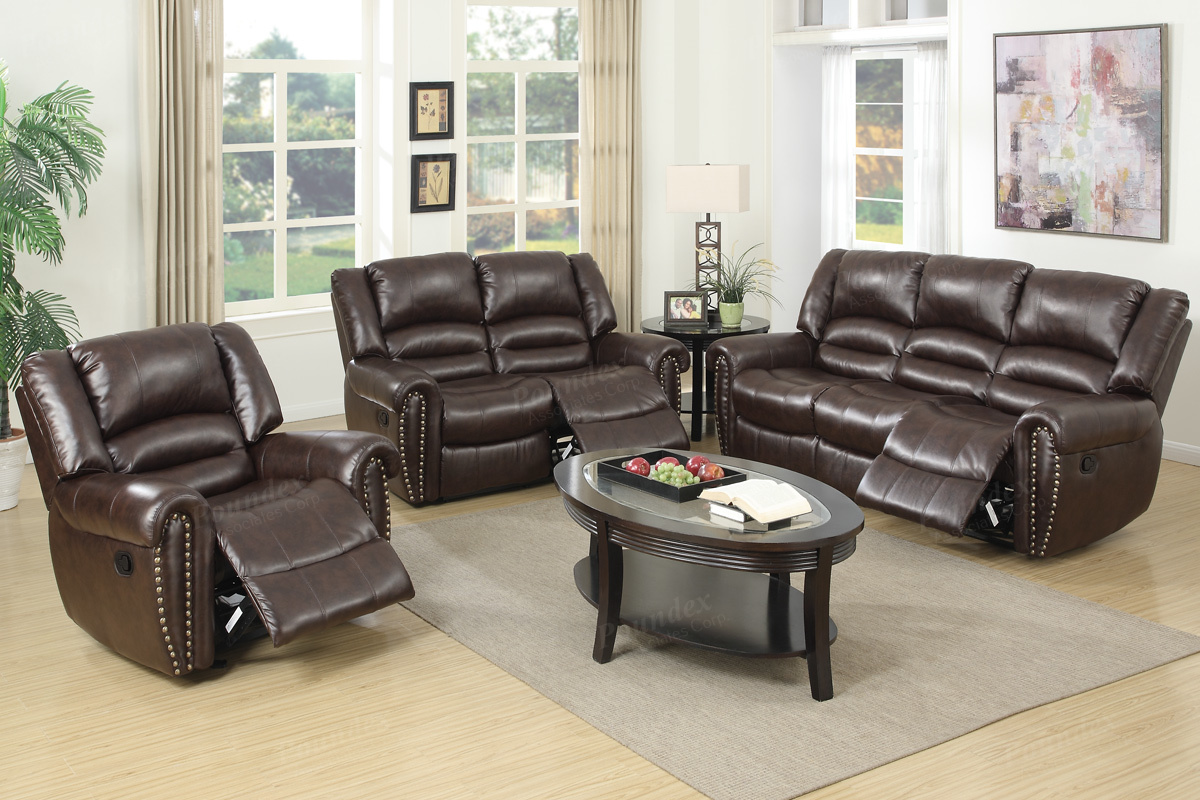 Motion Living Room F6753 2 Colors Silver State Furniture