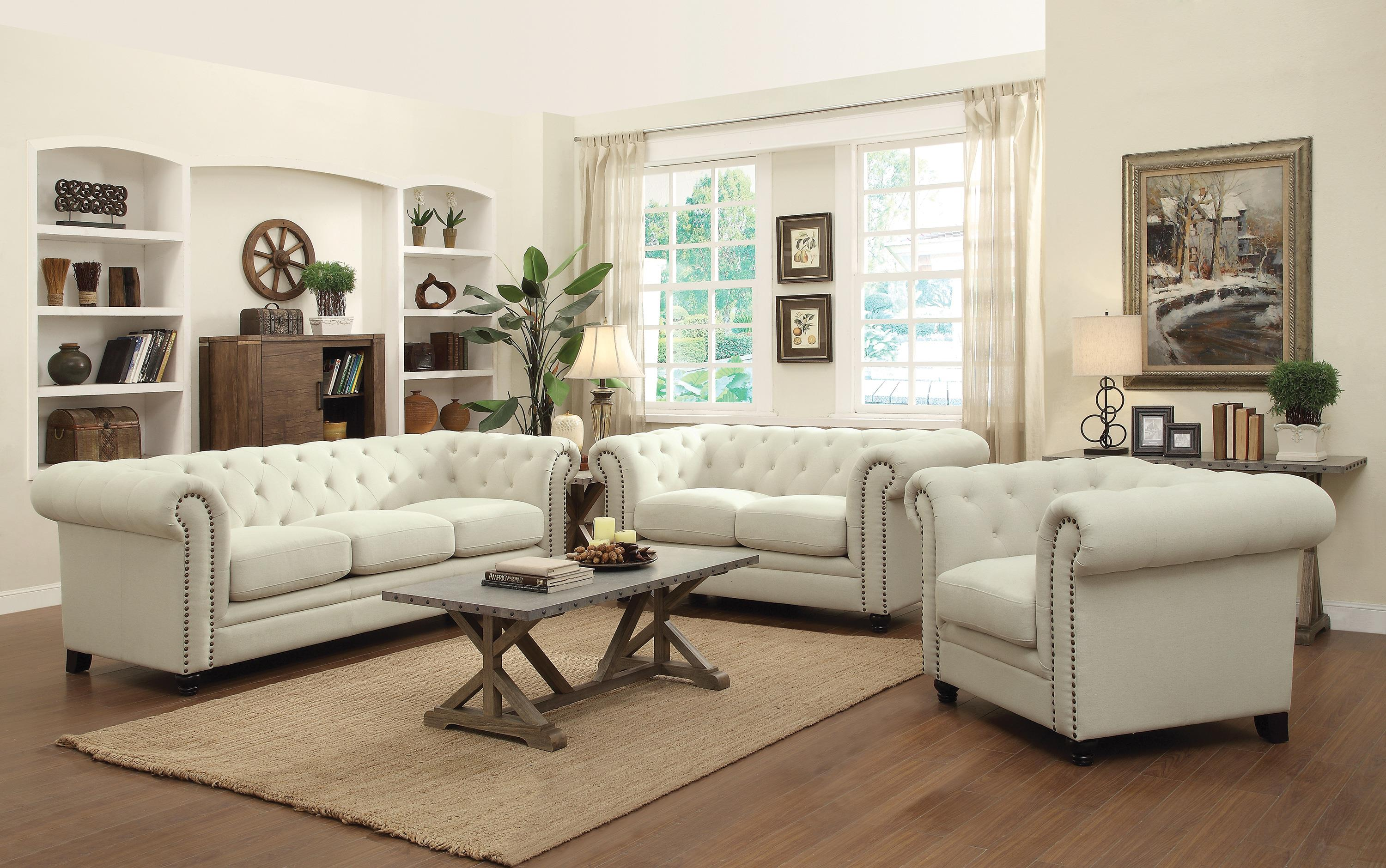 Roy Traditional On Tufted Sofa