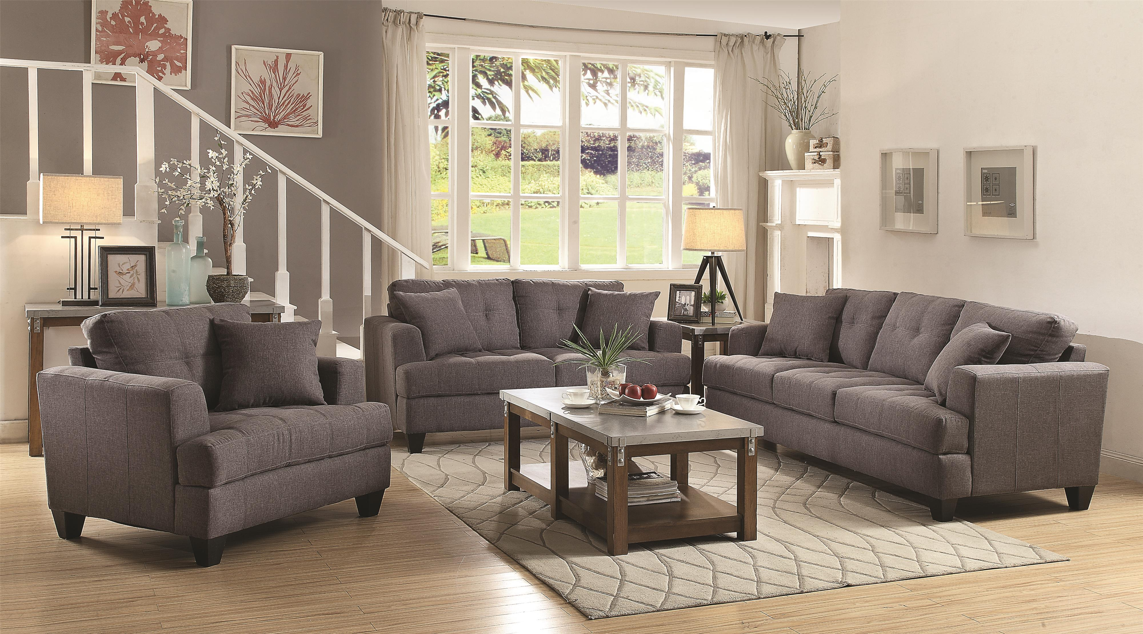 grey set furniture sofa sofas tufted full loveseat cheap of living size and black room gray back livings