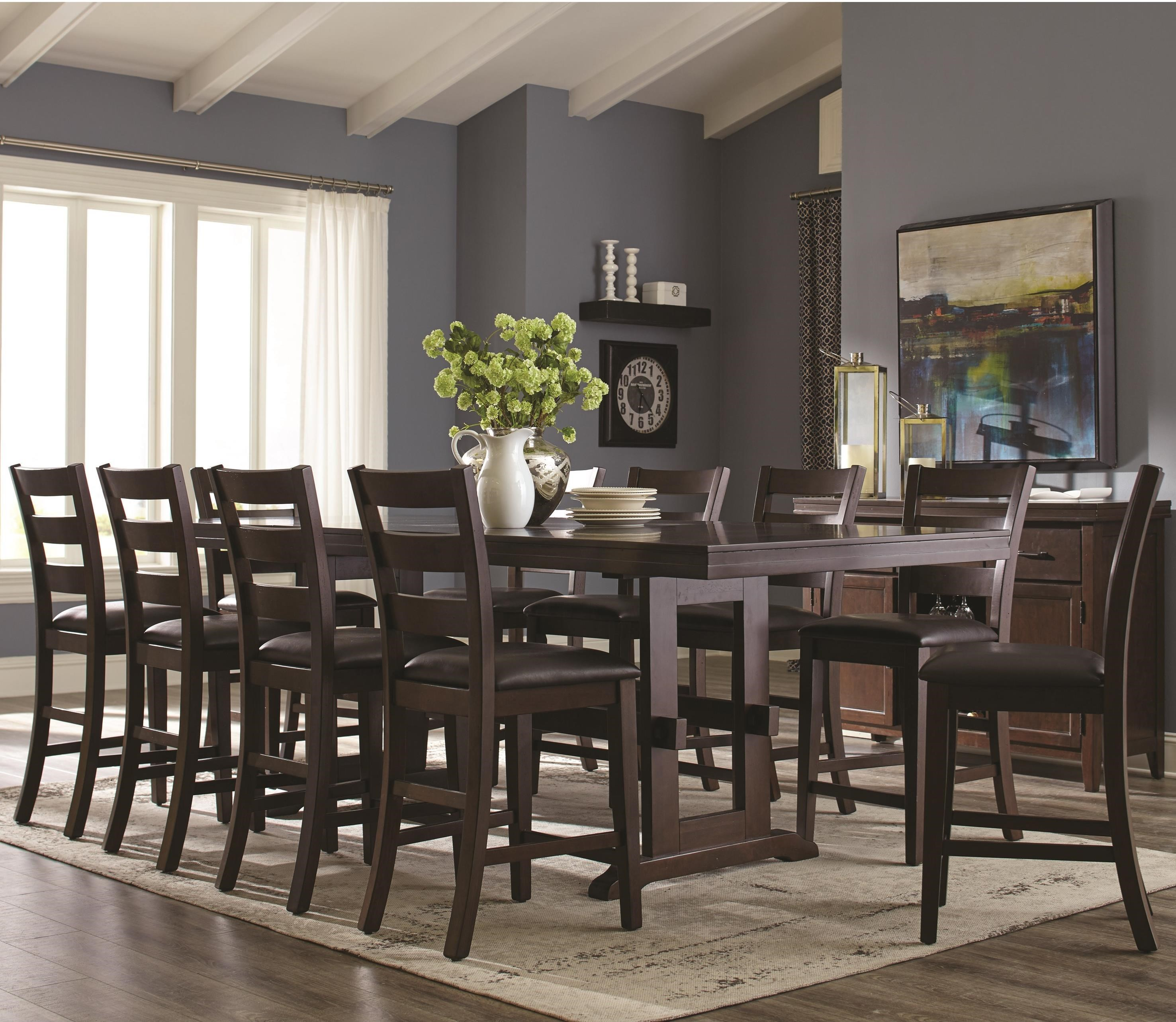 Delightful Holbrook 11 Piece Counter Height Table ...