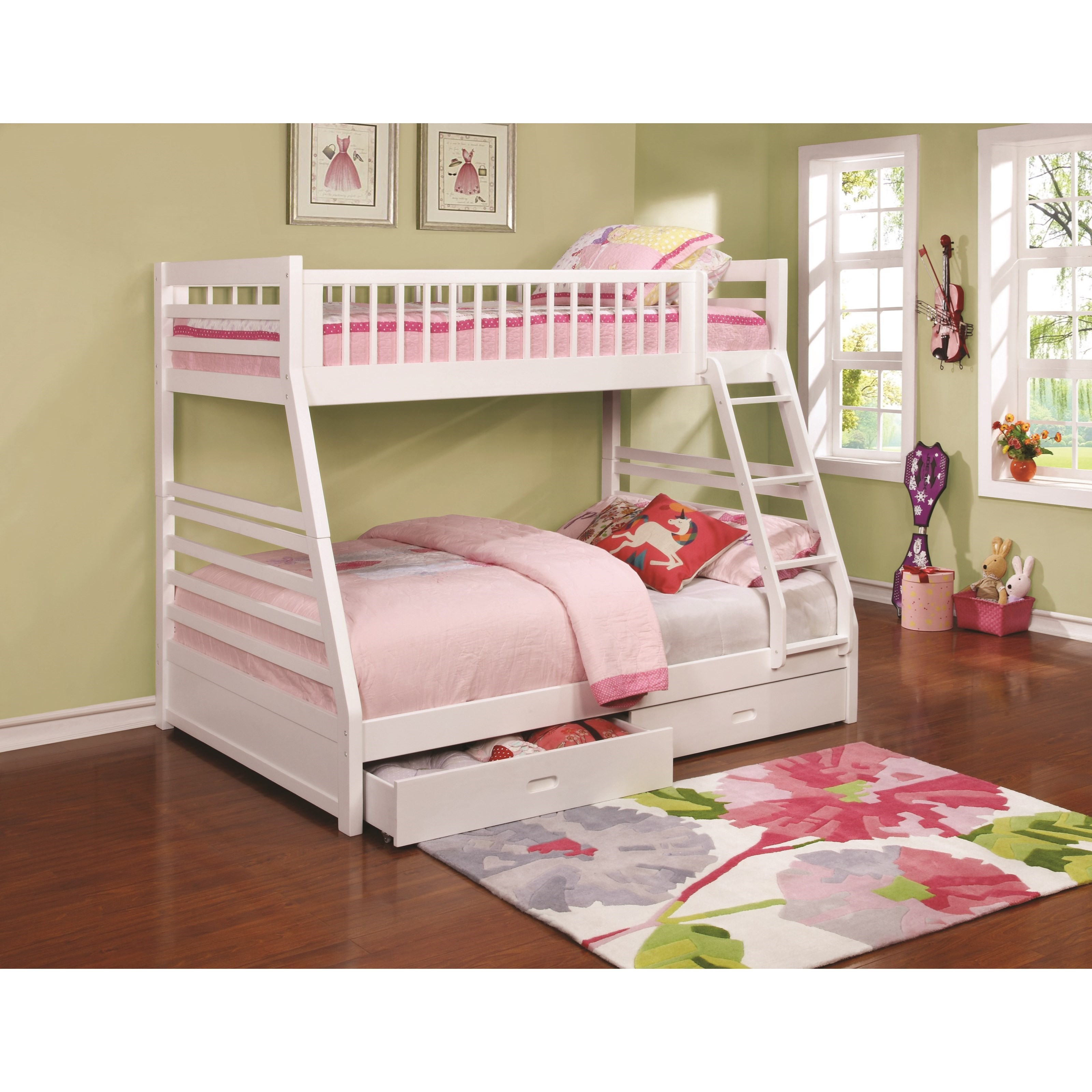 Bunks Twin Over Full Bunk Bed With 2 Drawers And Attached