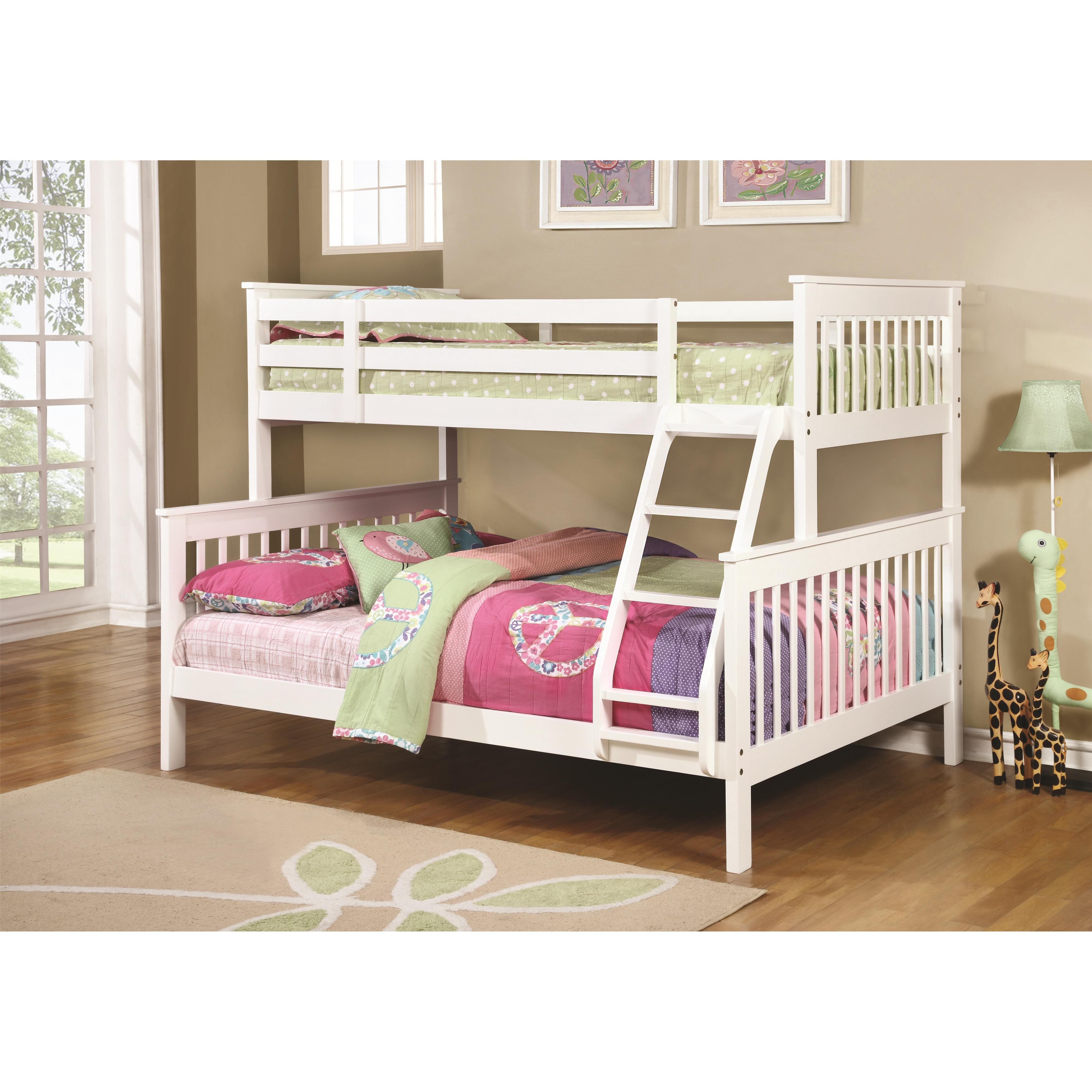 Bunks Traditional Twin Over Full Bunk Bed 460259 2 Colors