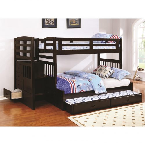 Full queen twin bunk bed 37735 38005 2 choices silver 2 twin beds make a queen