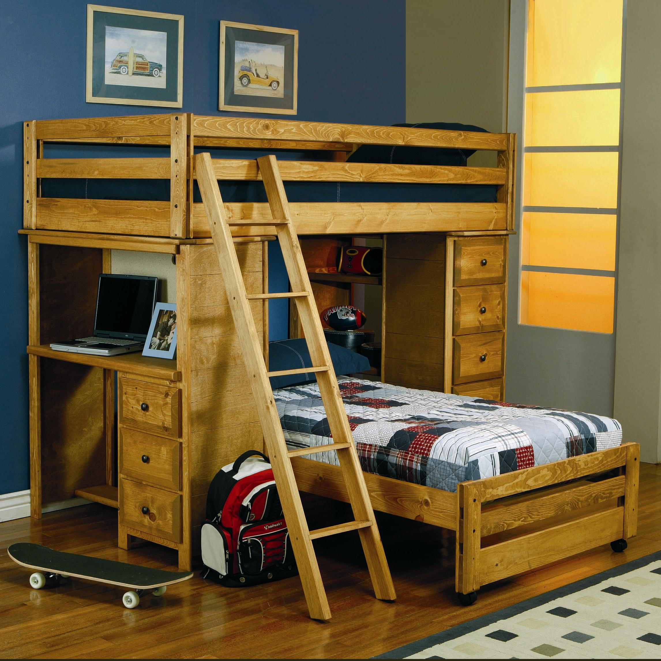 Wrangle Hill Twin Over Loft Bed