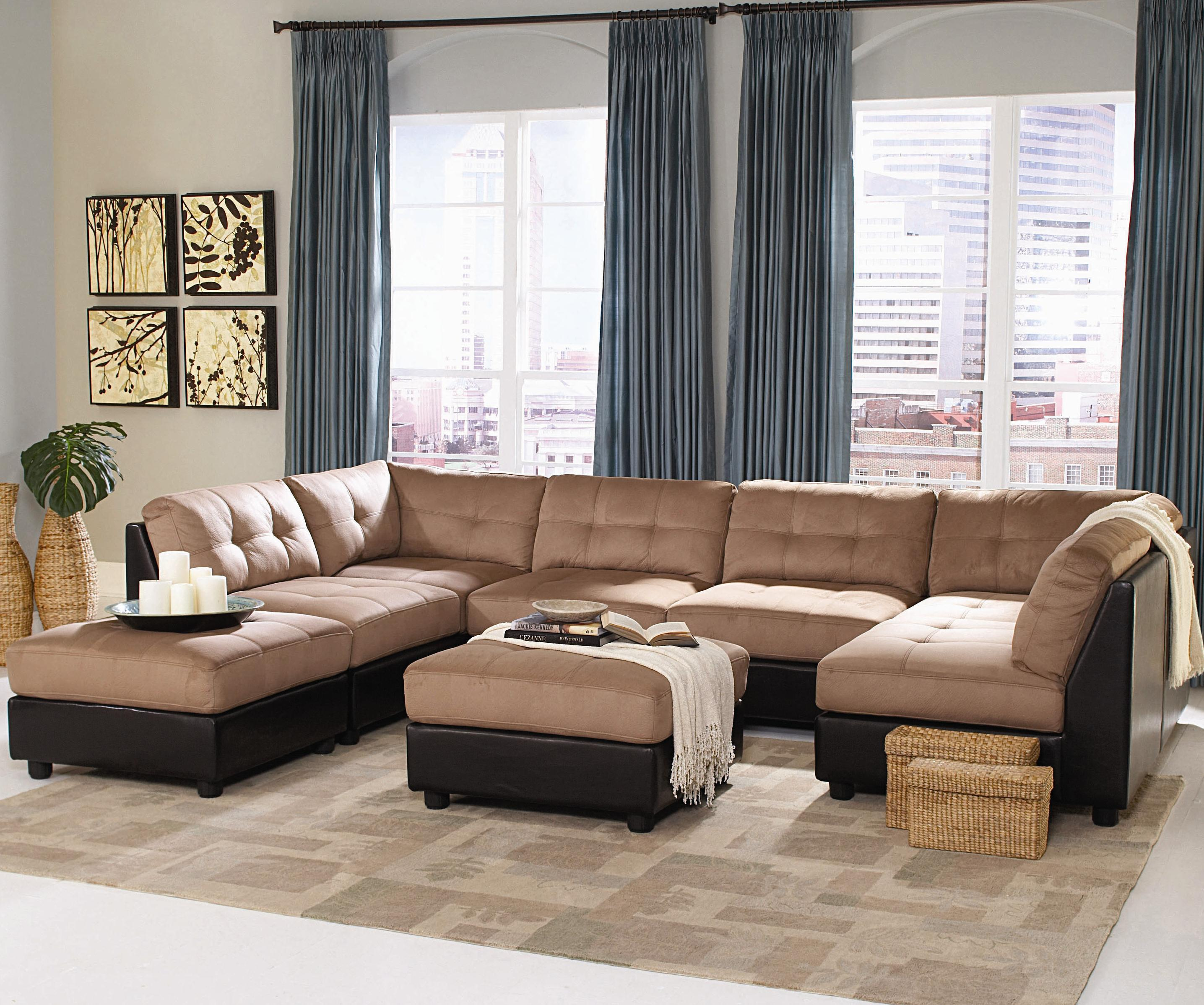 Claude Sectional Sofa Sets 2 colors 2 1 1 2 1 Silver