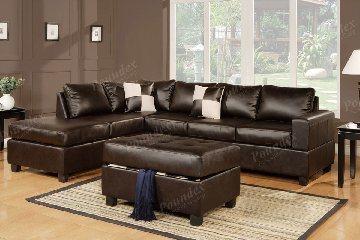 Sectional w/ Ottoman F7354 (3 Colors)