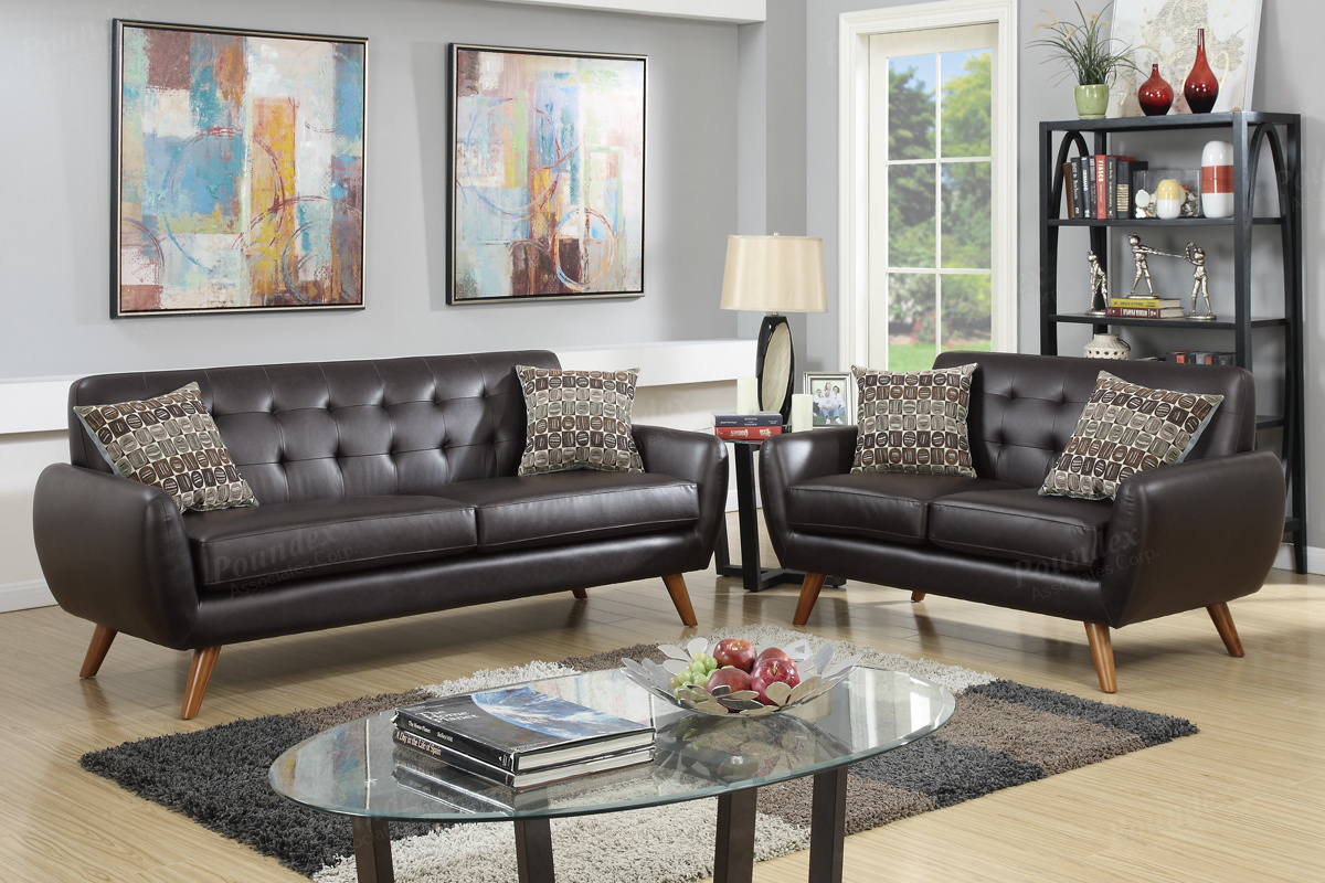 Surprising 2 Pcs Sofa Set F6914 4 Colors Theyellowbook Wood Chair Design Ideas Theyellowbookinfo