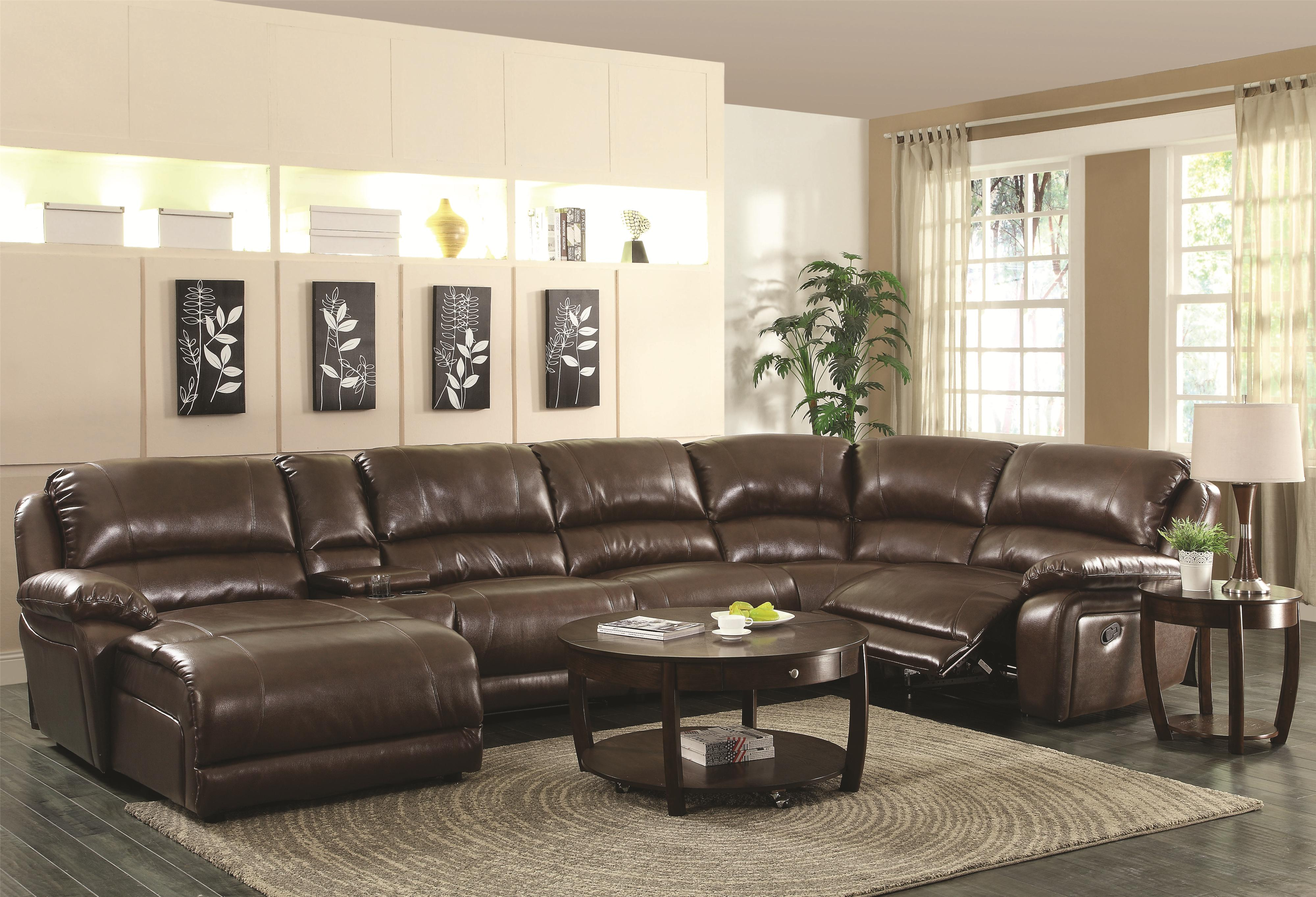 Mackenzie Silver 6 Piece Reclining Sectional Sofa with Casual