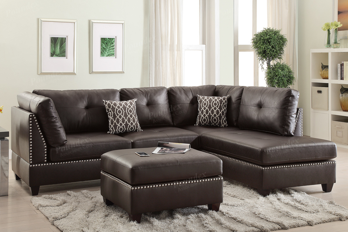 3 Piece Sectionals Including The Ottoman 6974 6973 2 Colors