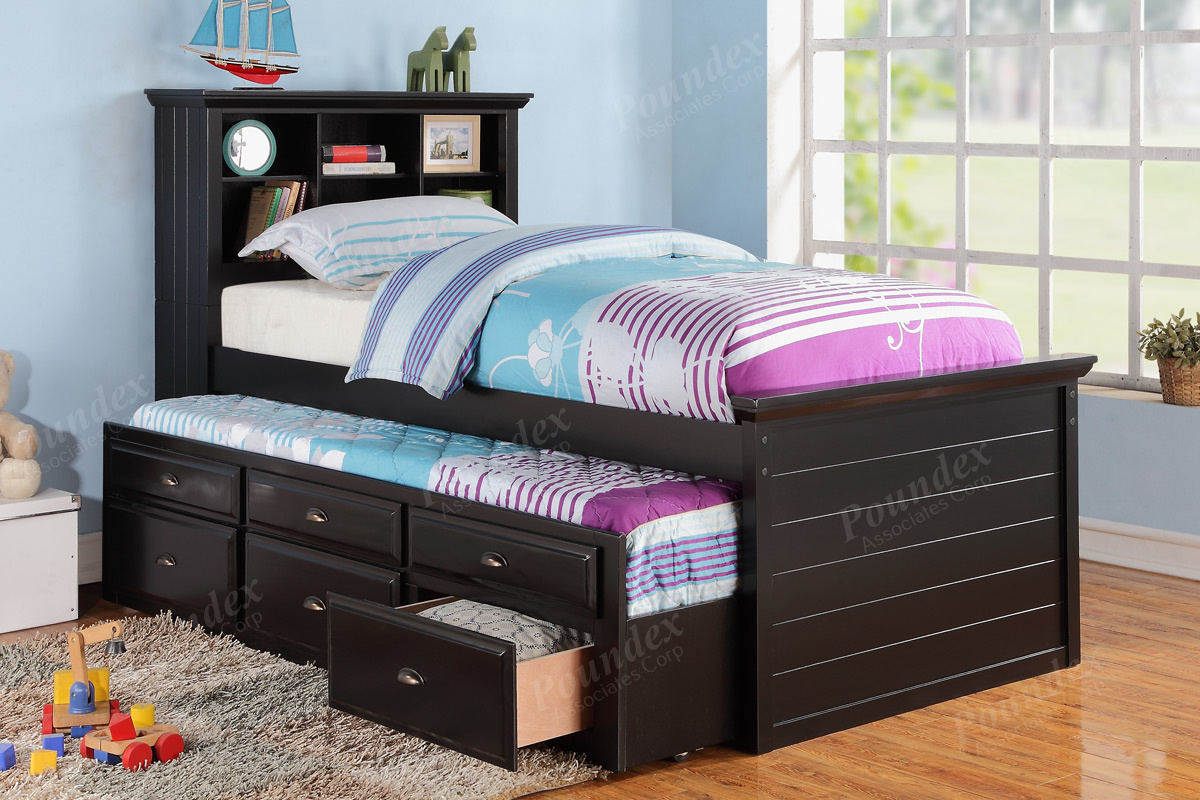 9219 Twin Bed With Trundle Drawers 3 Choices